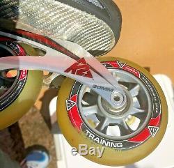 K2 RADICAL 90 90MM Wheels ILQ9 Inline Speed skates Men's Size US-10 EU-43.5