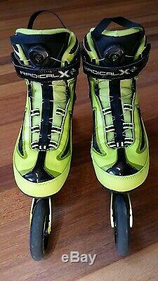 K2 RADICAL X BOA 2x100 2x110 ILQ9 PRO Inline Speed skates 10.5 44 $500