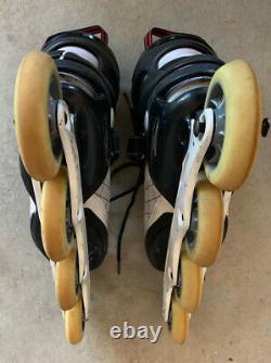 K2 Radical ILQ9 Carbon Inline Speed Skates Men Size 11.5 100mm Star Grip Wheels