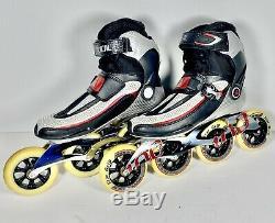K2 Radical ILQ9 Carbon Inline Speed Skates Men's Size 8 100mm Star Grip Wheels