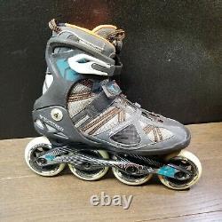 K2 inline skates v02 90 Boa M speed ALUMINUM, 4 wheels 85A sz 9 X-Training