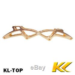 KL skate Alu inline frame, CNC inline speed skate frame with axles all sizes
