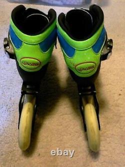 Kid's PASENDI Carbon Fiber Handmade Professional In-line Speed Skates Size 3-5