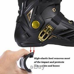 LIKU Black&Gold Performance 125 3WD Speed Inline Skates Unisex