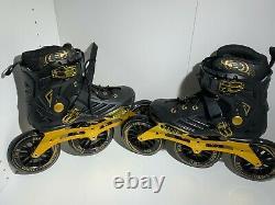LIKU Performance 125 3WD Speed Inline Skates Black&Gold Racing Skate