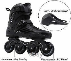 LIKU Professional Speed Skates Training Inline Skates Roller Skates Unisex Black