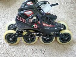 Luigino Attitude 12.8/4X105 inline speed skates, size 7 womens