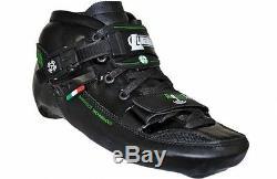 Luigino Challenge Black Inline Speed Skate Boot Size 4-15
