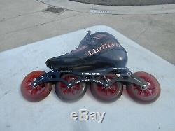 Luigino Inline Speed Skates Pilot Frame 12.8 /4x105 Size 8/40