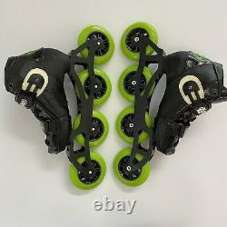 Luigino Kids Mini Challenge 4 Wheel Inline Speed Skate Size 2-5 Atom Wheels