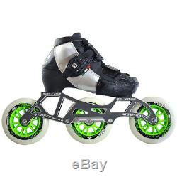 Luigino Kids Mini Challenge Silver 3 Wheel Adjustable Inline Speed Skate
