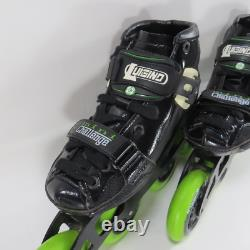 Luigino Kids Pilot Striker Mini Challenge Inline Speed Skates Sz Large 2/34-5/37
