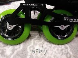 Luigino Mini Challenge Inline Speed Skates Kids 13-2 Atom Wheels NWT