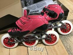 Luigino Strut 3x125 Inline Speed Skates Atom Striker 2 11.8 plate Size 9 / 41