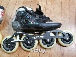 Luigino Strut Inline Speed Skates Roller Size 11US 43EU Z-Frame 195-4x105 12.8