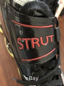 Luigino Strut Inline Speed Skates Size 13 US 45 EU PILOT-Frame 4 Wheel Barefoot