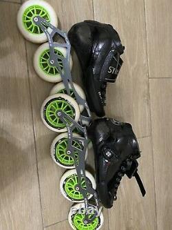 Luigino Strut Inline Speed Skates Size 7 Mens BOOT ONLY. No frame Or Wheels
