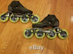 Luigino Strut Inline Speed Skates with Matter Lethal Wheels size 7/39