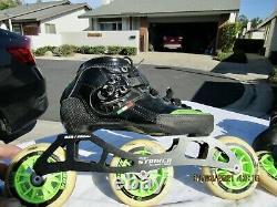 Luiqino Strut B. F. T. Inline Speed Skates Size 5 Pilot Striker All Wheel Drive
