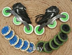 Mens Inline Speed Skates Custom Edgetek sz 12.5
