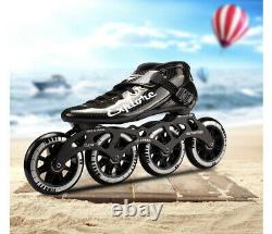 Mens Inline speed skates 110mm Carbon Fiber Inline Speed Skates. Size 43EU