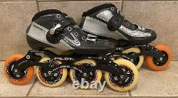 Mens inline speed Compe skates Luiguino Chrome Italy Size 41 EU Size 8 US