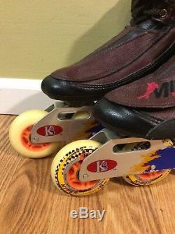 Miller Sports Design Pro Carbon Fiber Inline Speed Skates Womens sz 5