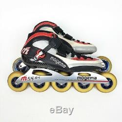 Mogema MG-XR1 Racing M55 Frame In Line Speed Skates Rollerblades Mens Sz 10