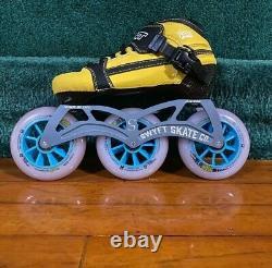 NEW 9 3X100 Inline Speed Skate Frame, Youth Frame, Youth Speed Skate Frame