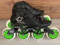 New Atom Pro Inline Speed Skates Men Size 9 4X100 Wheels