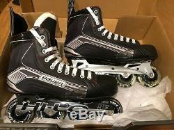 New Bauer Roller Hockey Inline Skates Vapor Dynamic Speed X300R Sr Size10 in box