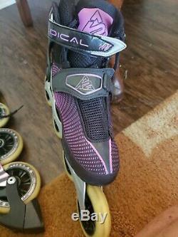 Nice K2 RADICAL 100 W WOMAN 7.5 4X100mm marathon speed inline skates ilq9