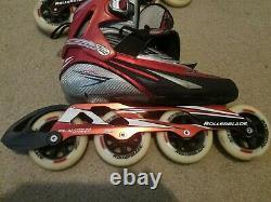 Nice ROLLERBLADE SPEEDMACHINE RX100 W 4X100mm marathon speed inline skates 11