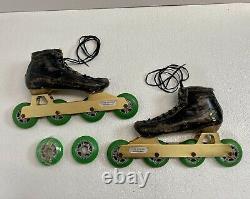 Pair Vintage Inline Speed Skates with Mogema Frames & Hyper Formula Series Wheels