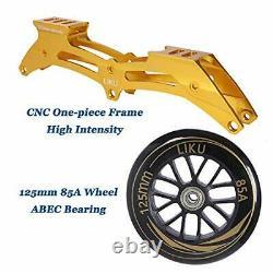 Performance 125 3WD Speed Inline Skates Unisex Black&Gold