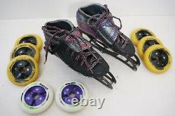 Pinnacle Racing Inline Speed Skating Boots Size 6 Pilot Frame Matter Wheels