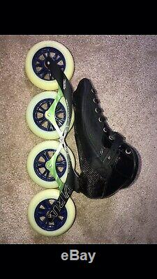 Power slide inline speed skates