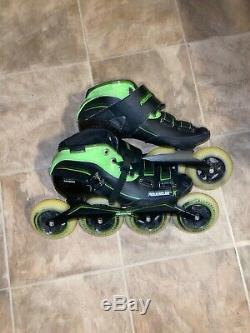Powerslide Inline Speed Skates Size 9 Glass-Fiber Heat Moldable