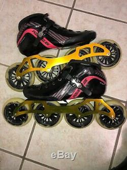Powerslide Inline Speed skate with Luigino frame-Carbon Fiber Mens 9