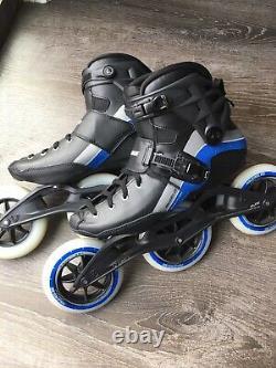 Powerslide R6 Trinity Marathon Inline Speed Skates Size 10 3x125 Rollerblades