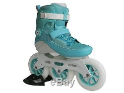 Powerslide Swell 125mm Aqua 3 Wheel Inline Fitness Speed Skates