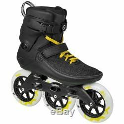 Powerslide Swell Black City 125mm 3 Wheel Inline Fitness Speed Skates + FREE BAG