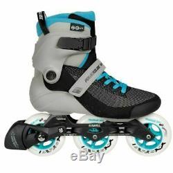 Powerslide Swell Lite Blue Grey 100MM 3 Wheel Inline Fitness Speed Skates Men's