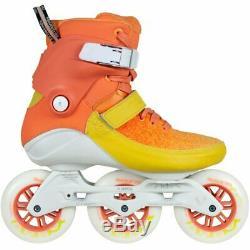 Powerslide Swell Sherbet 100 Inline Fitness Speed Skates Orange & Yellow