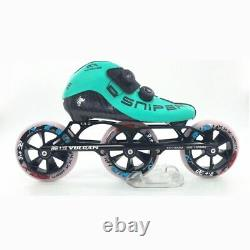 Professinal BE+VE 3 wheels 3X125mm Race SNIPER inline speed skates shoes BE