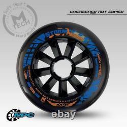 Rain Grip inline speed skates wheel for MPC black 90mm 100mm 110mm rainday +g