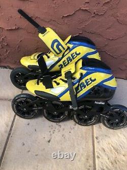 Rebel Inline Speed Skates Roller Size 11.5US 45EU