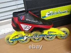 Riedell Striker Inline Speed Skates Elite racing Allor racing Frames 84mm w case