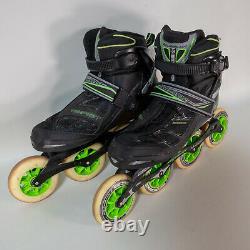 Rollerblade Mens Tempest 100 C Inline Speed Skates Size 9 Hydrogen Wheels