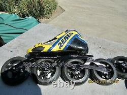 Schenkel Rebec Inline Speed Skates Size 6.5 / 39 PowerSlide V-Type II 4x10